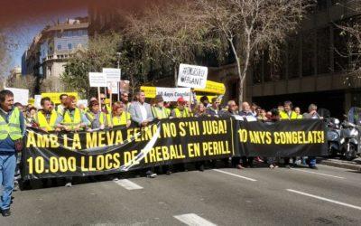 Manifestación en Barcelona para exigir nuestros derechos